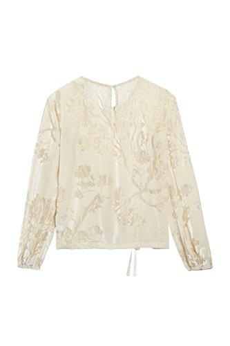 next Mujer Blusa Terciopelo Regular Camiseta Ropa Crudo