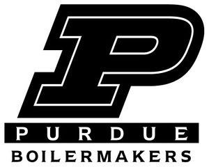 Purdue Boilermakers Vinyl (Purdue Boilermakers Cornhole Decal Set - 6 Cornhole Decals - Free Window Decal (Black/Gold) (Gold))