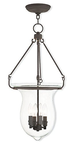 (Livex Lighting 50298-07 Bronze Pendant with Clear Glass)