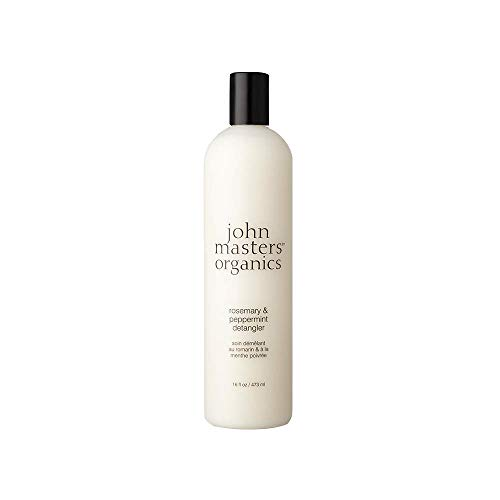 John Masters Organics - Rosemary & Peppermint Detangler - Lightweight Conditioner Infused with Essential Oils - Nourish, Add Extra Shine, & Volume to Hair - 8 oz