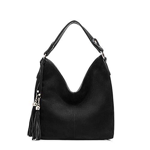 Women's Solid Suede Shoulder Crossbody Bag
