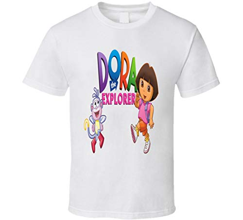 Dora The Explorer t Shirt Dora Children's TV Cartoon Series Dora Backpack Dora and Boots Kids t-Shirt White