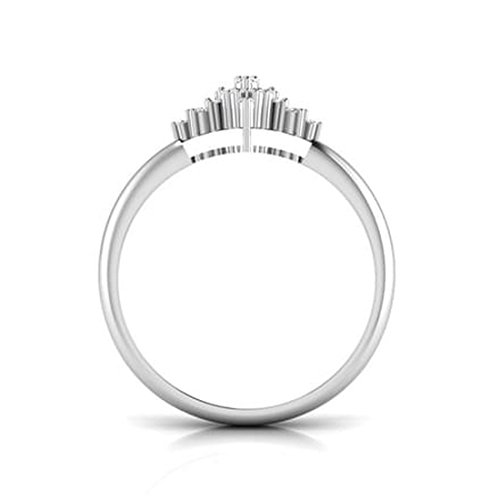 14K Or blanc, 0,23carat Diamant Taille ronde (IJ | SI) en diamant