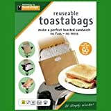REUSABLE TOASTABAGS TOASTED SANDWICH BAGS PACK OF 2
