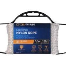 MIBRO Group (The) 642171 White Solid Braided Nylon TG 3/16x50 WHT NYL Rope ()