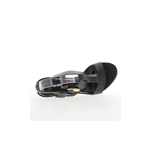 Sandales noires à talon de 14cm et plateau de 4cm