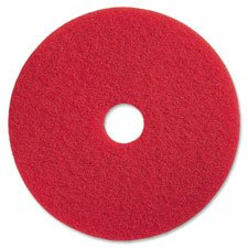 Genuine Joe GJO90416 Spray Buffing Floor Pads, 16'', 5/Ct, Red , 5Height (Pack of 5)