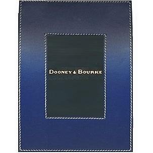 Bourke Leather (Dooney & Bourke WAVES in Ocean-Blue fine Leather - 2.5x3.5)