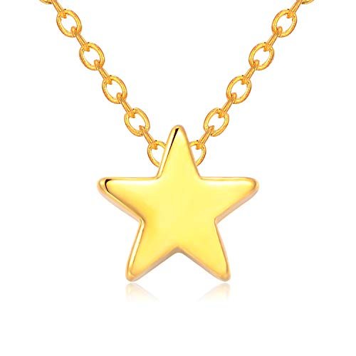 Rosa Vila Tiny Star Necklace, You are My North Star, Reach for The Stars Necklace, Dainty Star Pendants for Women, Dainty and Simple Necklace (Gold Tone), Mother's Day]()