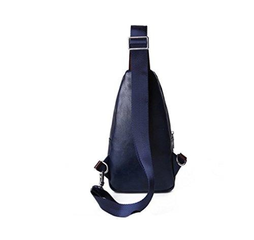 LAIDAYE Casual Messenger Sports Shoulder Bag Paquete De Negocios Bolso De Hombro Bolsa De Pecho Blue