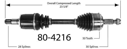 Empi 80-4216 CV Joint Half-Shaft Assembly (Empi Front Left Axle Assembly)