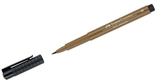 Faber-Castell Pitt Artist Brush Pen, Brush Tipped, Raw Umber (180) (Raw Light Umber)