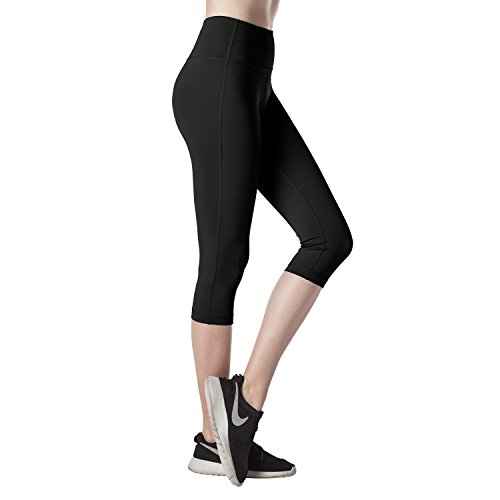 LAPASA Mallas Deportivas de Mujer, (Leggings Mujer para Yoga, Pilates, Running) Space Black (Negro)