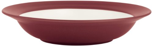 (Noritake Colorwave Rim Soup/Pasta Bowl, Raspberry, Set of 4)