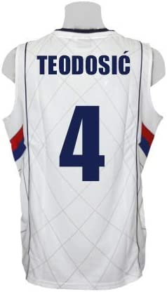 PEAK Camiseta de Baloncesto Selección de Serbia Blanca (M): Amazon ...