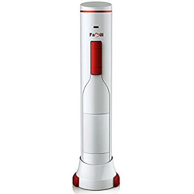 Famili FM700BR Rechargeable Cordless Electric Wine Bottle Opener with Foil Cutter, Opens up to 120 bottles