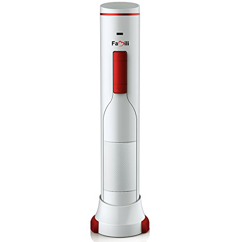 Famili FM700WR Rechargeable Cordless Electric Wine Bottle Opener with Foil Cutter, Opens up to 180 bottles with one charge