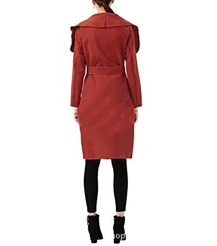 Parker Longues Printemps Automne El Manteau Costume Vintage Unie Couleur Trench Festive Femme Mode pgqw0t
