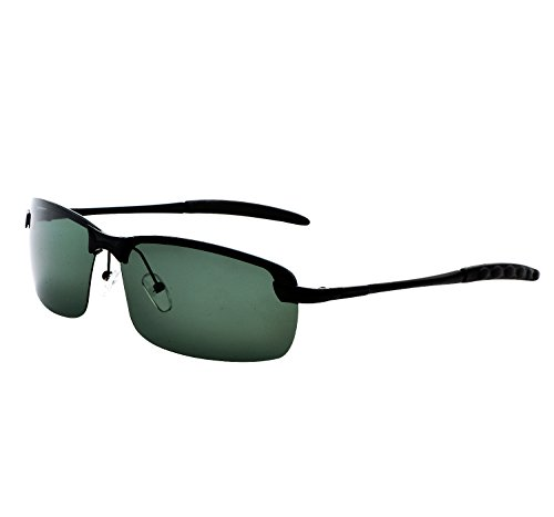 YANQIUYU Rimless Unisex Polarized Night Vision Driving Glasses Goggles with Sturdy Metal Frame (G15, - Sunglasses Block That Glare