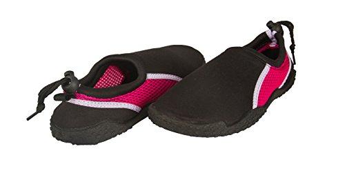 Sara Z Womens Neopreen En Mesh Water Beach Shoe Zwart / Fuchsia / Lilac