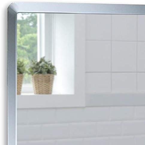 Neue Design Bathroom Wall Mounted Mirror, Rectangular, Simple Elegant Design, Frameless with Contemporary Bevel Edges (50cm x 40cm)