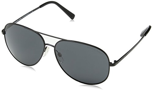 Michael Kors KENDALL I MK5016 Sunglasses 108287-60 - Matte Black Frame, Grey - Michael Aviators Kors Mirrored