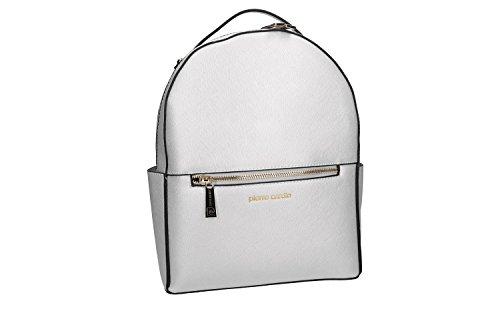 Bolsa mujer mochila hombro PIERRE CARDIN plata con abertura zip VN1854