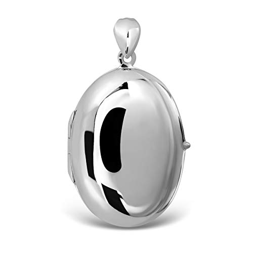 - WithLoveSilver 925 Sterling Silver Classic Oval Plain Forever in My Heart Keepsake Ashes Urn Locket Pendant