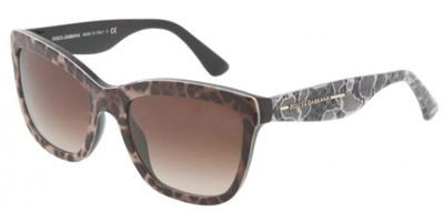 Dolce and Gabbana 4140 199513 Leopard and Lace 4140 Wayfarer Sunglasses Lens - Dolce Gabbana Glasses Leopard And