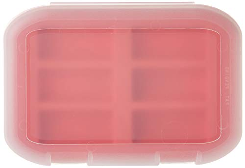 Malamute Rugged CR123 Battery Storage Case - Holds 6, Traction Feet, Made in The USA (Red)