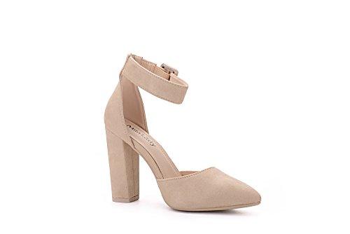 Mila Ankle 08 Lady BERYL Strap Nude Lady Elegance Classic D'Orsay Heels Platform qrwrX7SE