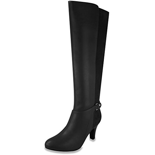LONDON FOG Womens Event Heal Dress Boot Black 10