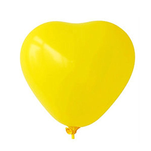 (Allydrew 16 Inch Heart Shaped Metallic Latex Balloons (10 pack),)