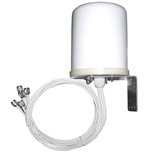 TerraWave 6 dBi MIMO Outdoor Omnidirectional Antenna, RPTNC Plug Connectors, 6 Ports Dedicated (354980)