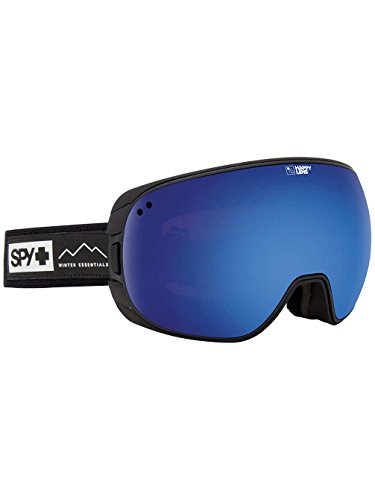 Arc Snowboard Jacket - SPY Optic Bravo Essential Black Snow Goggles | Medium-Sized Ski, Snowboard or Snowmobile Goggle | Two Lenses with Patented Happy Lens Tech
