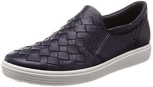 ECCO Women's Women's Soft 7 Slip-on Sneaker Night Sky Woven 43 M EU (12-12.5 - Sky Grain Blue