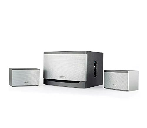 Thonet And Vander Laut  Certified Refurbished    300 Watt Wood Multimedia Audio Speaker System  2 1 Stereo Speakers With Integrated Amplifier And Dual Rca Stereo Inputs