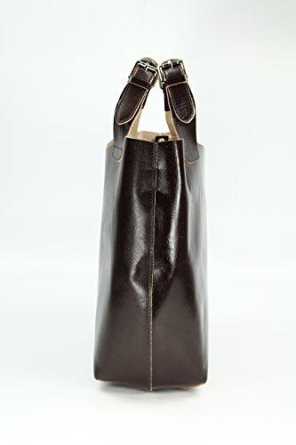Belli - Bolso de asas de Piel para mujer Marrón - marrón oscuro