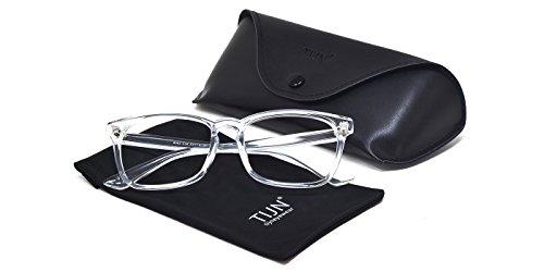 TIJN Chic Transparent Clear Frame Wayfarer Glass Rx-able Eyeglasses for Men Women