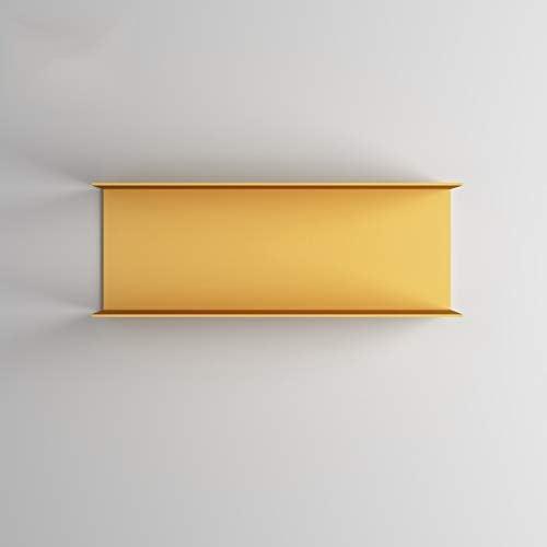 ウォールデコレーションラック ウォールシェルフメタルフローティング収納オーガナイザーマス収納多機能壁飾り本収納ラック(カラー:ブルー、イエロー) XLSM (Color : Yellow)