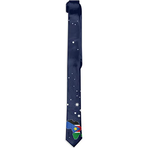 South Sudan Flag In Africa Map Tie New Classic Men's Neck Tie For Dating Daily Dress (Cost Of Wedding Dresses In South Africa)
