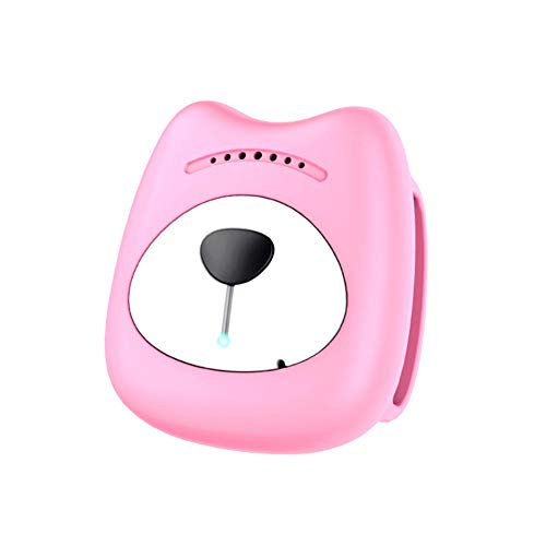 HUAXING Pet GPS Tracker,Dog Cat Collar 400 Mah Electricity Standby for 150 Hours Lightweight and Waterproof for Dogs/Cats/Pets,Pink