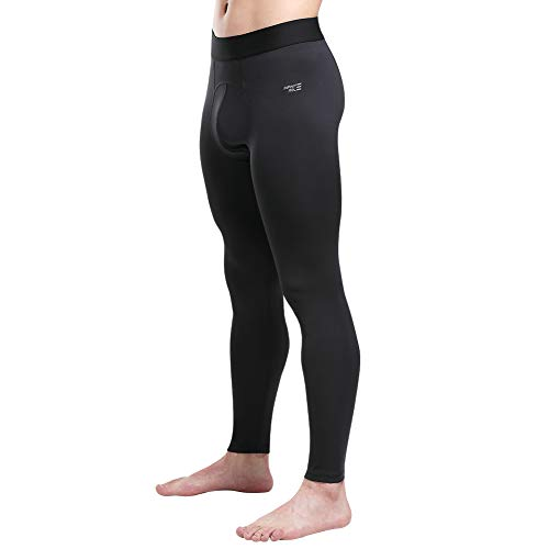 Infinite Role Men's Compression Pants Cool Dry Tights Sports Running Leggings Baselayer Athletic Base Layer Workout Black