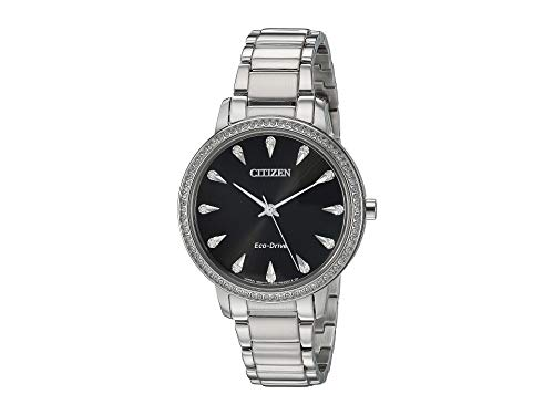 Citizen Watches Women's FE7040-53E Silhouette Crystal Silver Tone One Size