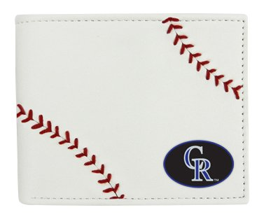 Leather Wallet, White, N/A (Colorado Rockies Mlb Leather)