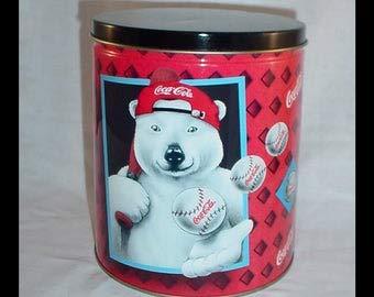 (Coca-Cola Polar Bear Baseball Tin)