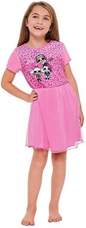 Jellifish Kids LOL Surprise Girls Pink Nightgown with Ruffle Skirt
