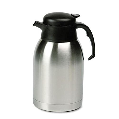 Hormel SVC190 - Stainless Steel Lined Vacuum Carafe, 1.9 Liter, Satin Finish/Black Trim (Satin Finish Thermal Carafe)