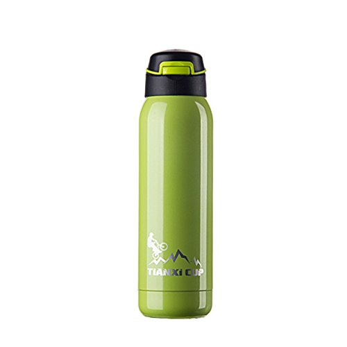 Anshinto Travel Insulation Cup Stainless Steel Vacuum Tea Cup Water Bottle 500ml (Green)
