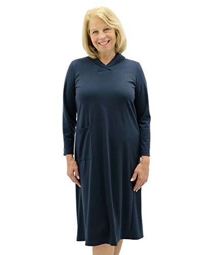 Silvert's Ladies Winter Warmth Adaptive Dress - Navy XSM